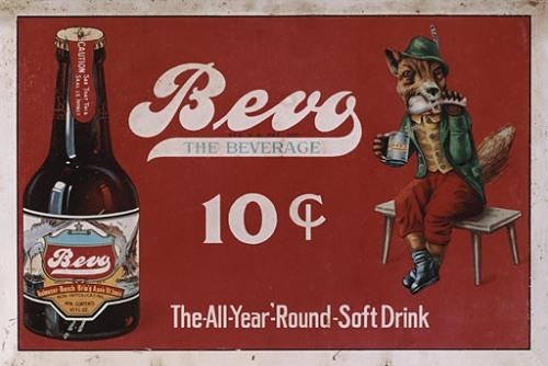 Безалкогольный напиток Bevo, 1920-е Anheuser-Busch