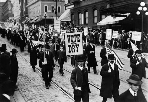 Митинг общества «Anti-Saloon League» в поддержку «Сухого закона» John Binder Collection