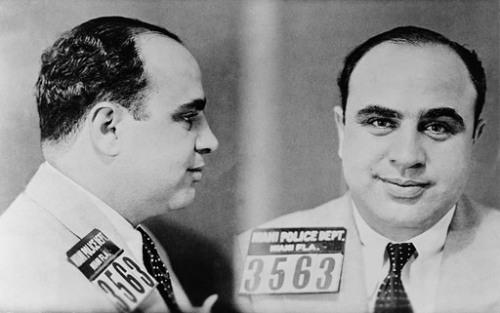 Снимок Аль Капоне, пойманного полицией Майями, 1931 Library of Congress, Prints and Photographs Division