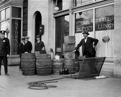 Антиалкогольный рейд, 1923 Library of Congress, Prints and Photographs Division