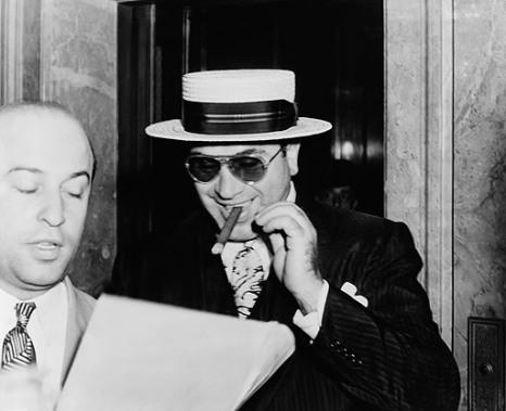 Аль Капоне с сигарой, 1941 Library of Congress, Prints and Photographs Division