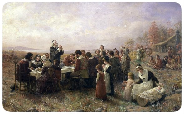 День благодарения (Jennie A. Brownscombe, 1914)